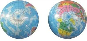 6 World 4 In Globe Map Bounce Balls Novelty Squeeze Toy Bouncing Play Ball Earth