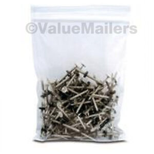 1000 4x6 Clear Plastic Zipper Poly Locking Reclosable Bags 4 Mil