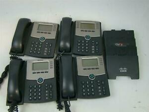 4 Cisco Ip Phones Spa5046 4 Line Ip Phone With Display Cbt1441013b