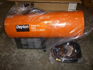 0661 New Dayton torpedo Portable Gas Heater Lp 120v 70k 125kbtuh 3ve57