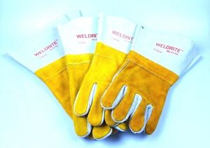 New Doz Welding Gloves Weldrite By Jomac Leather Tig Mig Arc Welder Wells Lamont