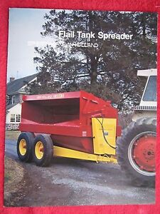 1982 Sperry New Holland 663 667 668 Flail Tank Spreaders 8 Page Brochure