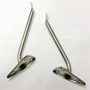 1960 1966 Chevy Pickup Truck Exterior Stainless Mirror Arms Lh Rh Pair C10