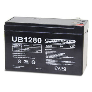UPG 12V 8AH Replaces Battery for Lowrance Portable Fishfinder + 12v 1Amp Charger