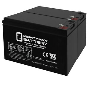 Mighty Max 12V 7.2AH Battery for Lowrance Universal Portable Fishfinder - 2 Pack