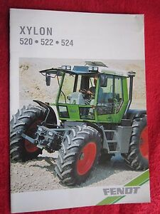 Vintage 1995 Fendt Xylon 520 522 524 Tractor 16 Page Brochure french Text