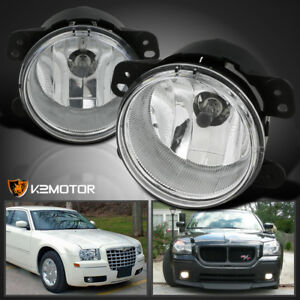 05 10 Chrysler 300 05 08 Magnum Clear Bumper Driving Fog Lights H8 Bulb