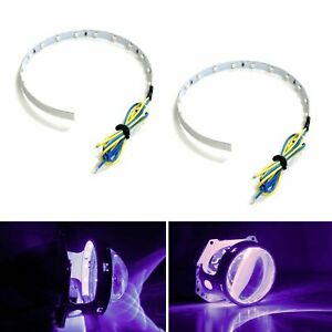 Purple 15 Smd High Power Led Demon Eye Halo Ring Kit For Headlight Projector