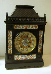 Antique G V French 8 Day 1 4 Hr Chime Cabinet Clock Beautiful Working Condition