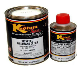 1 Qt Kit 2k Urethane Overall Clear clearcoat Auto Paint