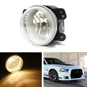 1 Replacement Clear Lens Fog Light W Bulb For Jeep Wrangler Dodge Charger Etc