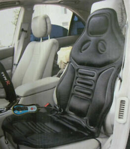 Cc Fof Massage Car Seat Cushion With 6 Motors Choose Color Black tan Or Silver