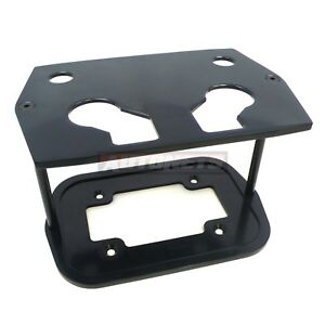 Black Aluminum Billet Smooth Hold Down Optima 34 78 Battery Bracket Tray
