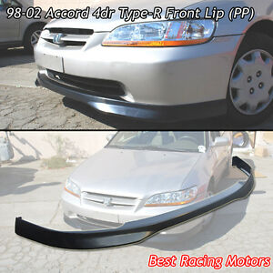 Type R Style Front Bumper Lip Pp Fits 98 02 Honda Accord 4dr