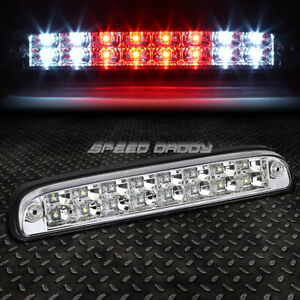 For 99 16 Ford Super Duty 2 Row Led Rear Third 3rd Tail Brake Light Lamp Chrome