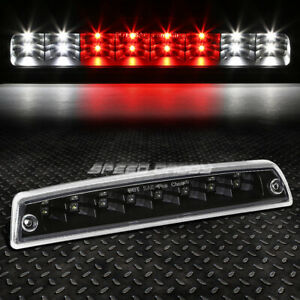 For 94 02 Ram Pickup Black 2 Rows Led Third 3rd Tail Brake Light W Cargo Lamp