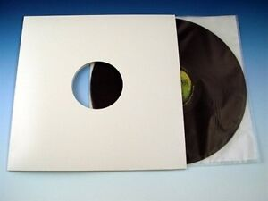 White Die cut Lp Premium Album Record Mailer Jacket With Center Hole Pack Of 100