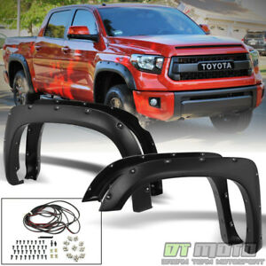For 2014 2017 Toyota Tundra Bolt On Pocket Textured Fender Flares 4pc Left Right