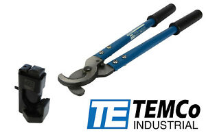 Temco Dieless Indent Hammer Wire Lug Crimper Tool Electrical Cable Cutter Set