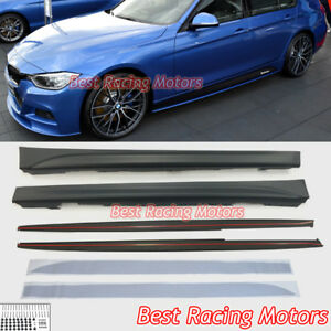 M Sport Performance Style Side Skirts pp Fits 12 18 Bmw F30 F31 3 series 4dr