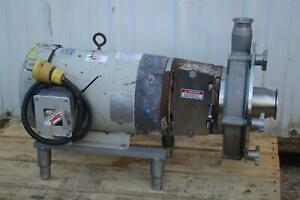 Fristam Centrifugal Pump Stainless Tri clamp Frp3451 250 W 7 5hp Motor