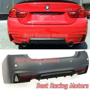 Performance Style Rear Bumper 2 Outlets 1 Tip Outlet Fit 14 19 Bmw F32 F33