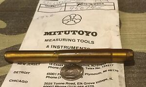 Mitutoyo Micrometer Shaft Carbide Tipped P n 950745 New Old Stock Metric 106
