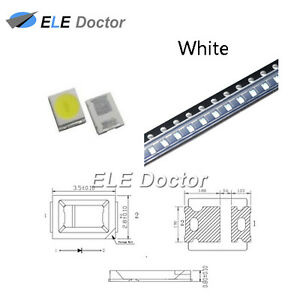100pcs Smd Smt 2835 Led Diodes White Light 0 8 Thickness Plcc 2 High Quality