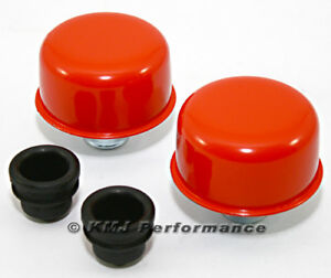 Orange Push In Valve Cover Breather Set New Pair For Steel Covers W 1 25 Holes