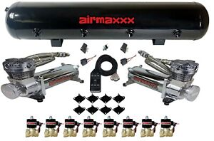 Air Compressors Airmaxxx 480 Chrome 3 8 Valves Air Bag Management Blk 7 Switch