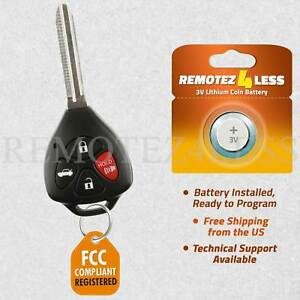 For 2008 2009 2010 2011 2012 2013 Toyota Corolla Keyless Remote Entry Key Fob