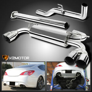 Fit 09 14 Hyundai Genesis Coupe 2l 2 0t Stainless Steel Catback Exhaust Muffler