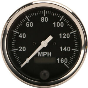 Speedway Speedometer Gauge Black Face 3 3 8 Electric
