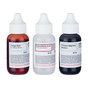 Amscope Sk 3n Negative Stains Stain Kit 3 Chemicals 4 Making Microscope Slides