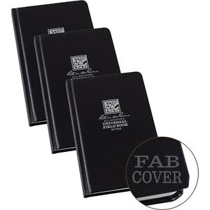 Rite In The Rain 770f Black All weather Universal Field Notebooks 3 pack
