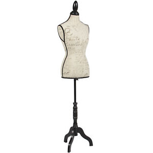 Bcp Female Mannequin Torso Display W wooden Tripod Stand adjustable Height beige