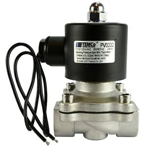 1 2 Npt Electric Stainless Steel Solenoid Air Water Valve Nc 110v Ac