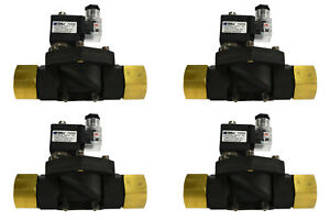 4 Lot 1 Npt Electric Plastic Solenoid Air Water Valve Nc 110v Ac Pneumatic