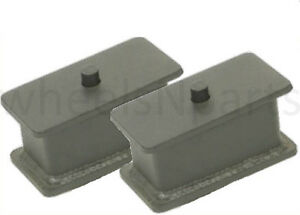 3 Fabricated Steel Lowering Blocks Pair For Rear Axle 1985 2004 Chevy S10