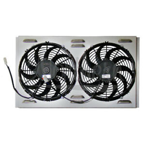 Northern Z40069 Universal Dual 11 Electric Radiator Fan Shroud Combo 24 X 15