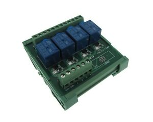 4 Channel 5vdc Relay Board Plc Din Rail Mounting Common Anode Npn