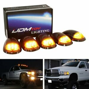 Smoked Lens Amber Led Truck Cab Roof Lamps For Dodge Ram Ford F series Chevy Gmc