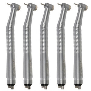 5 Pcs Nsk Style Dental High Speed Handpiece Push Button Type 4 2hole Seasky Ce