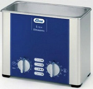 New Elma Elmasonic S10h 0 8 Liter Heated Ultrasonic Cleaner And Basket