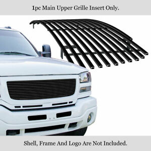 Fits 2003 2006 Gmc Sierra 1500 2500 3500 Main Stainless Black Billet Grille