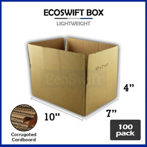 100 10x7x4 Cardboard Packing Mailing Moving Shipping Boxes Corrugated Box Carton