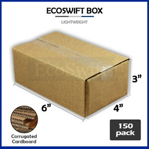 150 6x4x3 Cardboard Packing Mailing Moving Shipping Boxes Corrugated Box Cartons