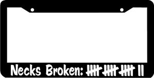 Necks Broken Plate Holder Jdm License Plate Frame