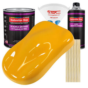 Citrus Yellow Gallon Kit Single Stage Acrylic Urethane Car Auto Paint Kit