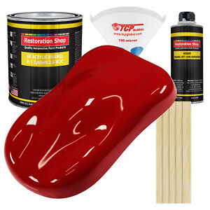 Victory Red Gallon Kit Single Stage Acrylic Enamel Car Auto Body Paint Kit
